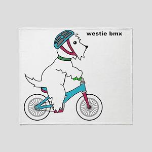 westie bmx Throw Blanket