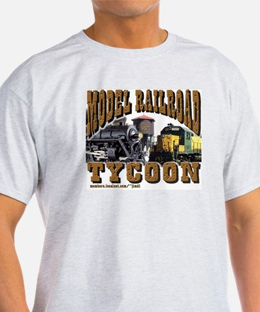 Train Grey T-Shirt- RR Tycoon - Ask Me about my RR