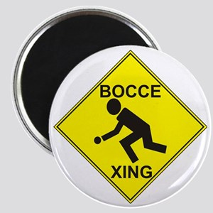 Bocce Xing clipped Magnet