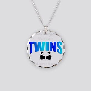 cute twins gift Necklace Circle Charm