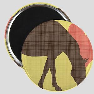 Horse Grazing Magnet