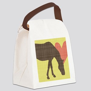 Horse Grazing Canvas Lunch Bag