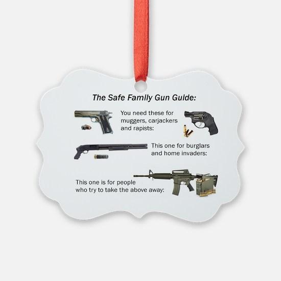 Safe Family Gun Guide Ornament