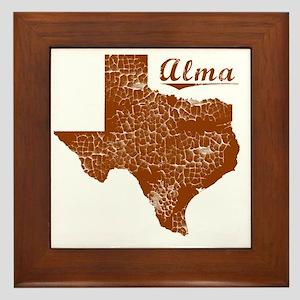 Alma, Texas (Search Any City!) Framed Tile
