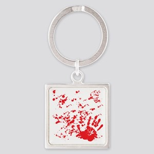 flesh wound Square Keychain