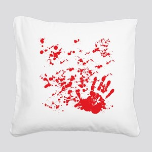 flesh wound Square Canvas Pillow