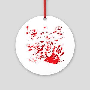 flesh wound Round Ornament