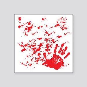 """flesh wound Square Sticker 3"""" x 3"""""""