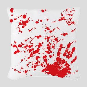 flesh wound Woven Throw Pillow