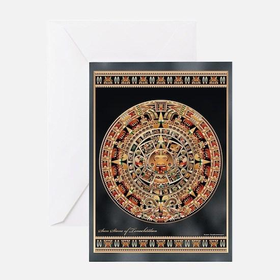 Sun Stone of Ancient Tenochtitlan Greeting Card