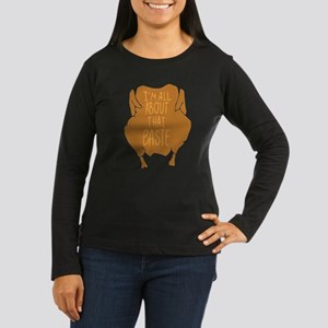 I'm All About Tha Women's Long Sleeve Dark T-Shirt