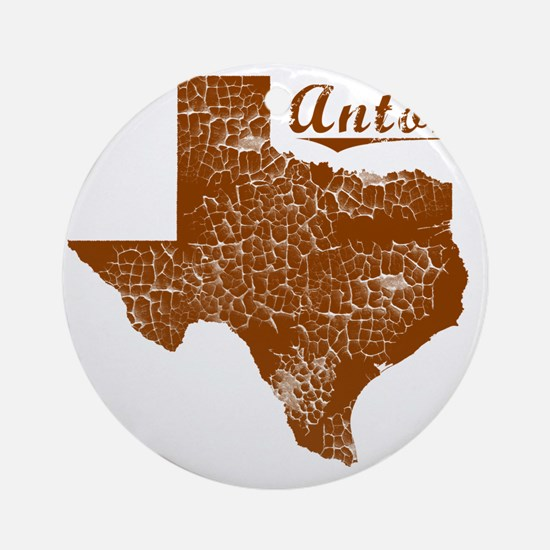 Anton, Texas (Search Any City!) Round Ornament