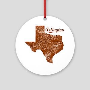 Arlington, Texas (Search Any City!) Round Ornament