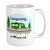 Happy camper Large Mugs (15 oz)