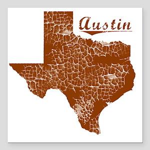 """Austin, Texas (Search An Square Car Magnet 3"""" x 3"""""""