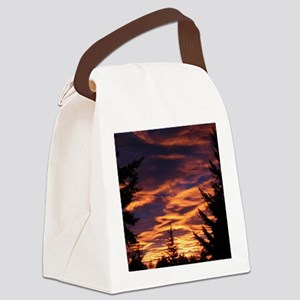 Western Sunset Canvas Lunch Bag