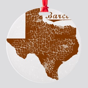 Barclay, Texas (Search Any City!) Round Ornament
