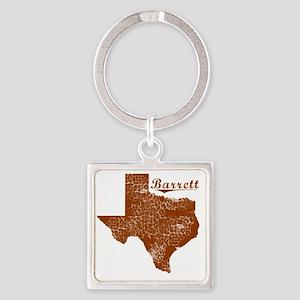 Barrett, Texas (Search Any City!) Square Keychain