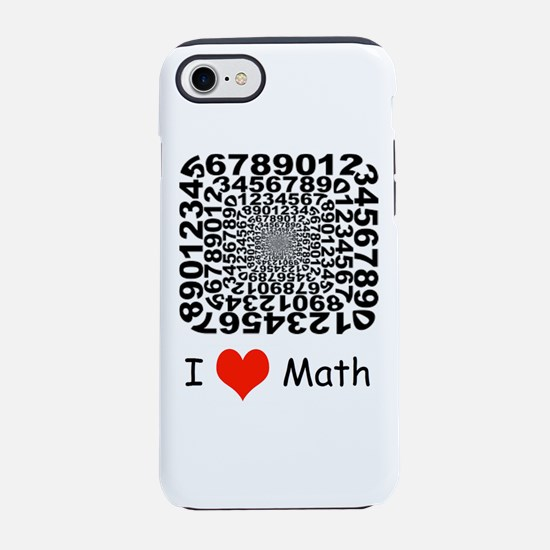 I Love Math - Numbers Fun iPhone 7 Tough Case