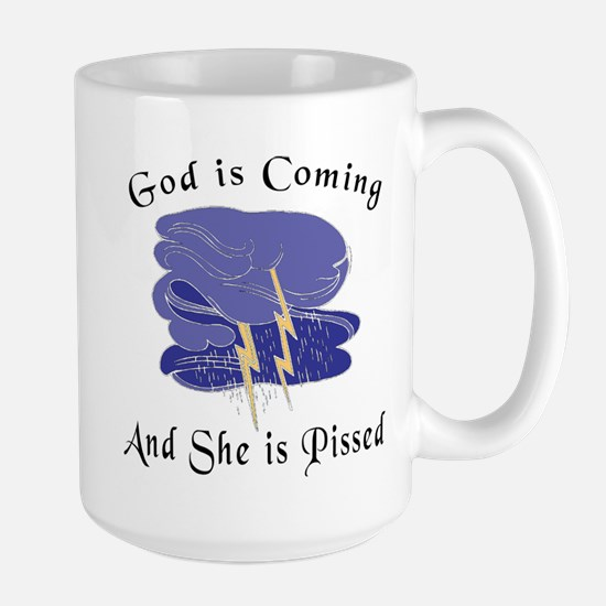 God is Coming Large Mug