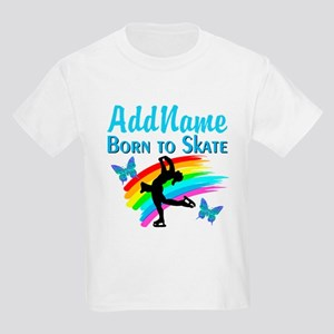 BORN TO SKATE Kids Light T-Shirt