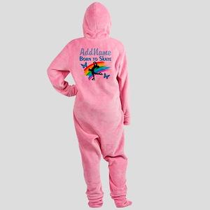 BORN TO SKATE Footed Pajamas