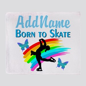 BORN TO SKATE Throw Blanket