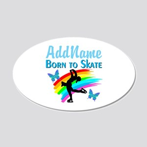 BORN TO SKATE 20x12 Oval Wall Decal