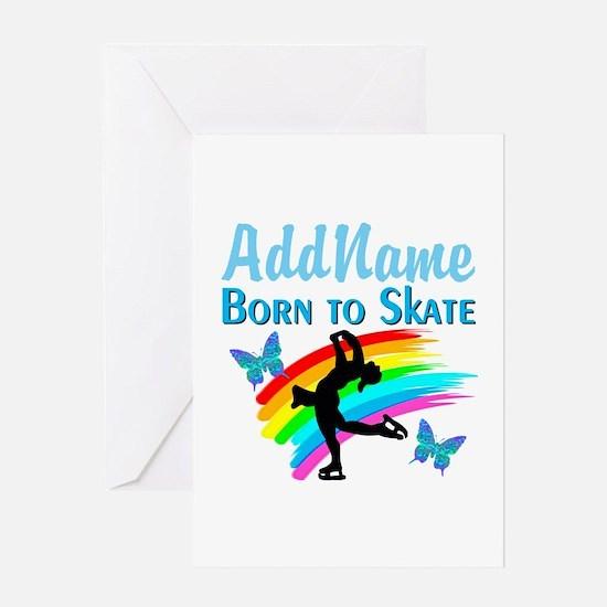BORN TO SKATE Greeting Card