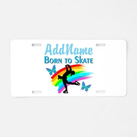BORN TO SKATE Aluminum License Plate