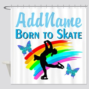 BORN TO SKATE Shower Curtain