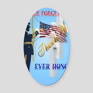 Large Poster Never Forget-Ever Hon Oval Car Magnet