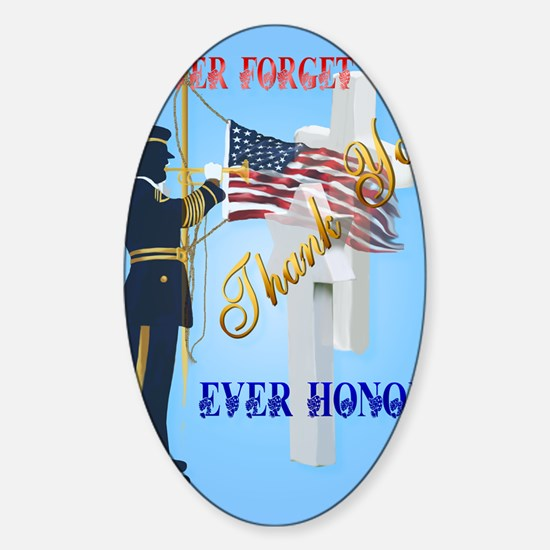Large Poster Never Forget-Ever Hono Sticker (Oval)