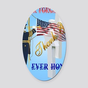 Never Forget-Ever Honor Oval Car Magnet