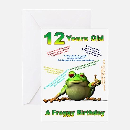 Lots of Froggy Jokes 12th Birthday Card Greeting C