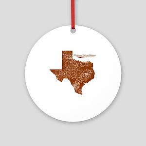 Bluetown-Iglesia Antigua, Texas Round Ornament