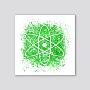 "Cool Nuclear Splat Square Sticker 3"" x 3"""