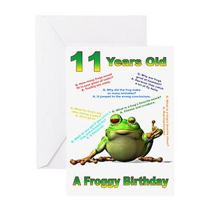 Funny 11th Birthday Greeting Cards