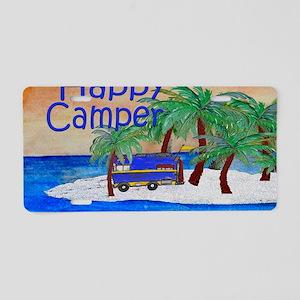 Happy Camper yard sign Aluminum License Plate