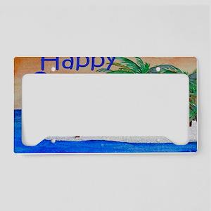 Happy Camper yard sign License Plate Holder