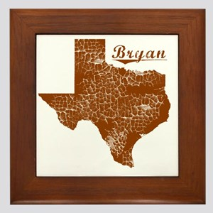 Bryan, Texas (Search Any City!) Framed Tile
