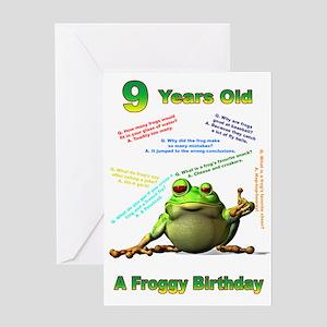Lots of Froggy Jokes 9th Birthday Card Greeting Ca
