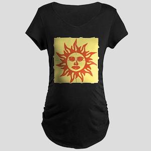 Orange Sunshine Tab Maternity T-Shirt