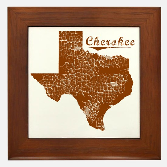 Cherokee, Texas (Search Any City!) Framed Tile