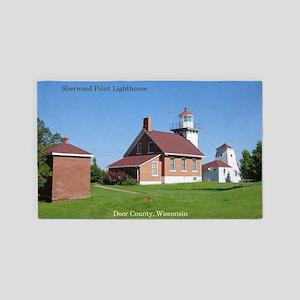 Sherwood Point Lighthouse Area Rug