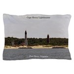 Cape Henry Lighthouses Pillow Case
