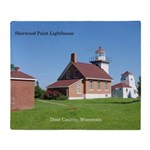 Sherwood Point Lighthouse Throw Blanket