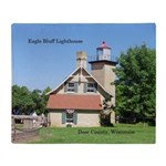 Eagle Bluff Lighthouse Throw Blanket