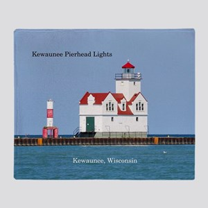 Kewaunee Pierhead Lights Throw Blanket