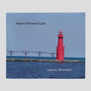Algoma Pierhead Light Throw Blanket